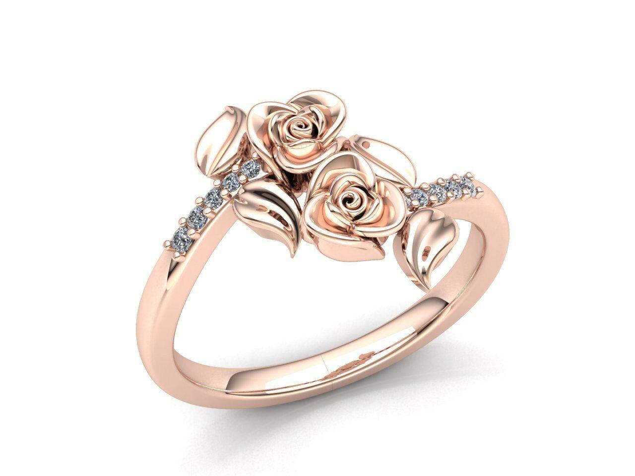 e26680e05b470 Genuine 0.5ct Round Cut Diamond Ladies Accent Flower Bridal Fancy ...