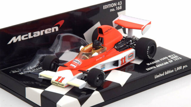 1:43 Minichamps McLaren Ford M23 GP Süd Afrika, World Champion Hunt
