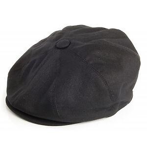 Jaxon Black Pique Cotton Newsboy 8 Panel 1920s Peaky Blinders Style ... 7c1a33d1040