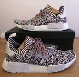 hot sales e0b56 fc286 Details about Adidas NMD R1 NMD_R1 White Noise Colour Static UK 9 US 9.5 EU  43.3 BW1126 (1)