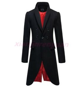 Vogue-Mens-Coat-Slim-Fit-Winter-Wool-Blend-Trench-Long-Overcoat-Jacket-Cool-Hot