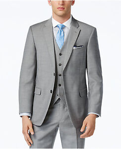Tommy 2019 Men/'s Grey Sharkskin Classic-Fit Suit