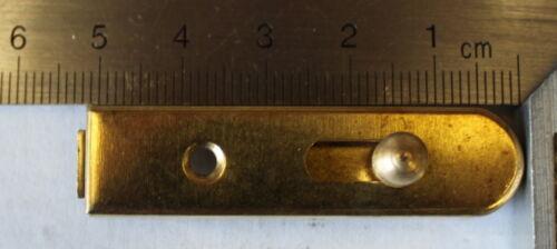 Meubles Barrette cisaillement Loquet 10 pièces précisément fer vermessingt 50 x 13 mm 106