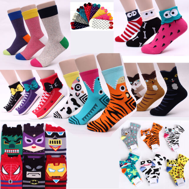 Free Ship [Buy5+Gift1] Funny Animal Star Wars Monster Cartoon Galaxy Gifts Socks