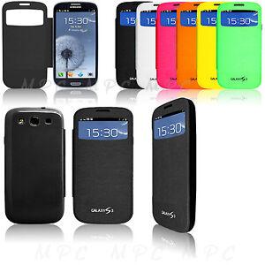 Flip-Smart-S-VIEW-fenetre-Couvercle-De-Batterie-Boitier-Pour-Galaxy-S4-S3-S4-S3-MINI-Note-2-3