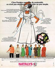 PUBLICITE ADVERTISING 064  1975  NATALYS   robe vetements de grossesse