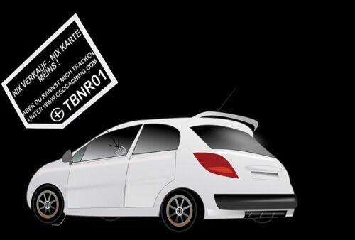 Geocaching Autoaufkleber trackbar Visitenkarte Travelbug Aufkleber Trackable Aut