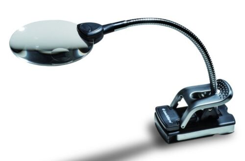 Tischlupe mit Flexarm 2 LED/'s           lu161neu 2,5 und 5-fache Vergrößerung