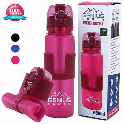 Silicone Drink Bottle for Hiki... FOLDABLE WATER BOTTLE Portable Collapsible