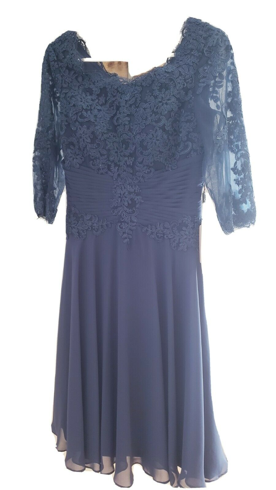 NWT JJ's House Mother of the Bride Dress w/Jacket Dark Navy Blue Size 6