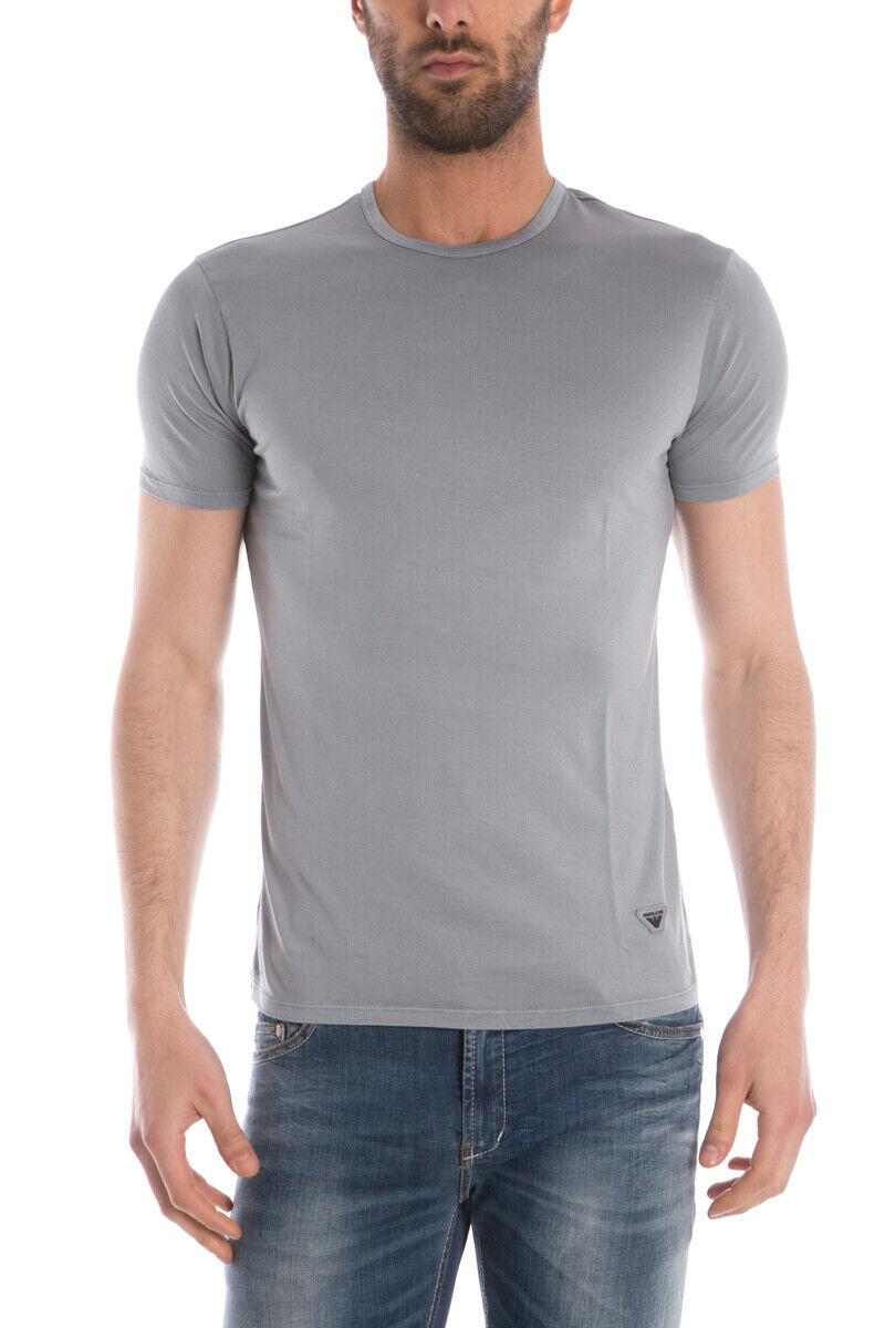 T shirt Maglietta Armani Jeans Sweatshirt Cotone herren grau C6H79FP 2