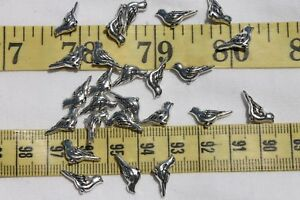 7mm-Tibetan-Style-Alloy-Bird-Charm-Antique-Silver-25-Birds-Crafts-Jewelry-RS73