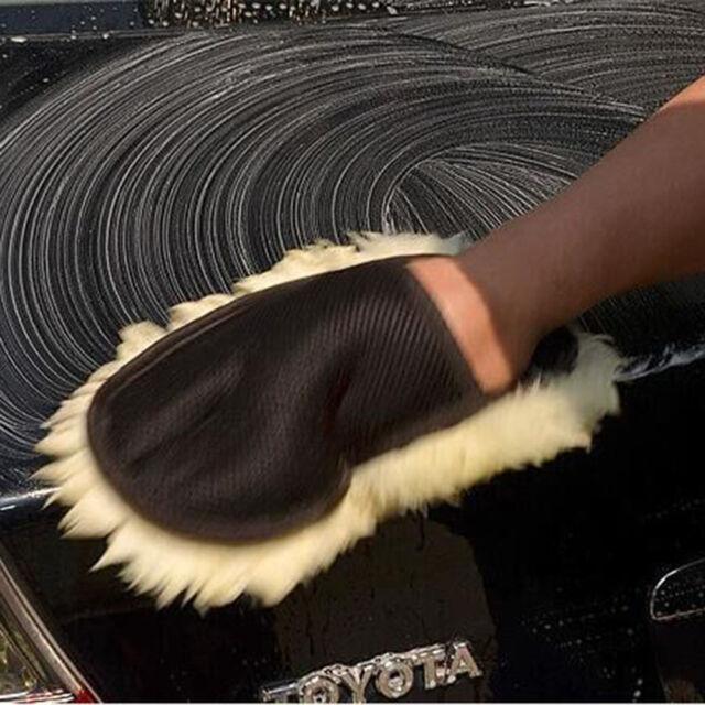 Top Super Soft Lambswool Car Wash Mitt Deep Pile Car Cleaning Glove Wash