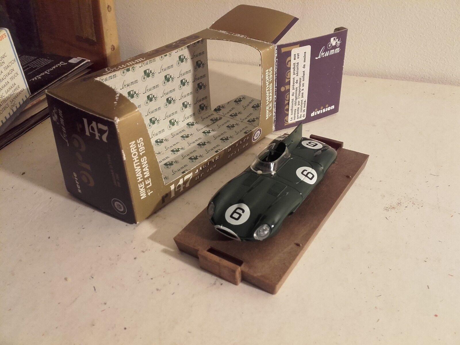 Jaguar type D 24 heures du mans 1955 brumm r147 dans  sa boite vainqueur winner