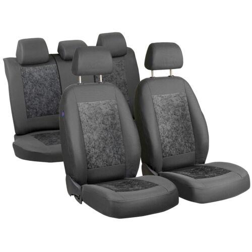Gris gamuza fundas para asientos para audi a3 coche sede referencia completamente