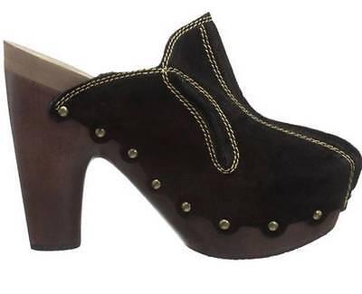 Women's Shoes FLOGG DIANA Mule Clogs Heels Memory Foam Suede Black | eBay