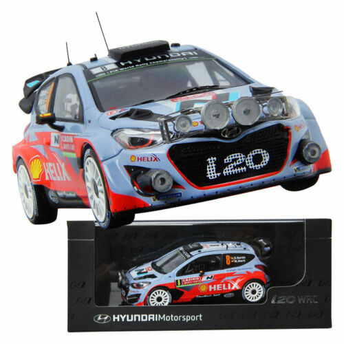 Pino B&d HYUNDAI i20 WRC no.8 1:43 Display model car motor sports Miniature