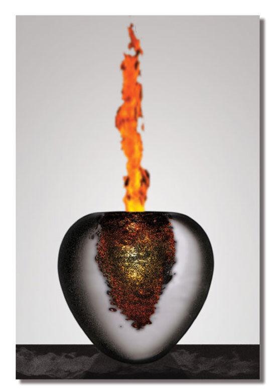 Metallbild moderne abstrakte Kunst auf Alu Designer Bilder Wandbild Dekoration