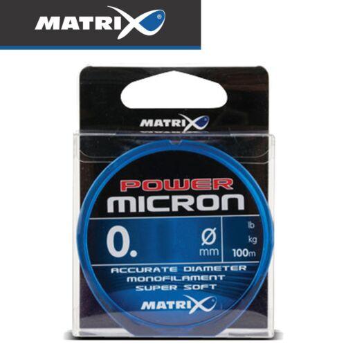 Monofile Schnur für Vor Vorfachschnur Fox Matrix Power Micron 100m 0,08€//1m