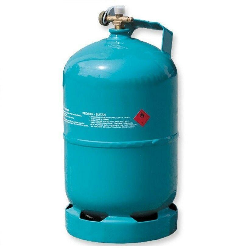 Leere befüllbare Gasflasche 5 kg   12,3L Camping Grill Boot Propan Butan Gas