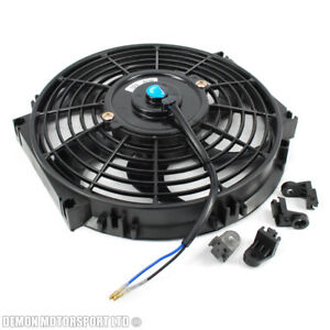 10-034-10-Inch-12-Volt-Slim-Electric-Cooling-Fan-Push-Pull-For-Radiator-Intercooler