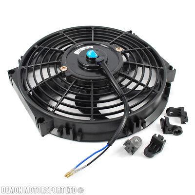 """10"""" 10 Pollici 12 Volt Ventola Di Raffreddamento Elettriche Slim Push Pull Per Radiatore Intercooler- Numerosi In Varietà"""