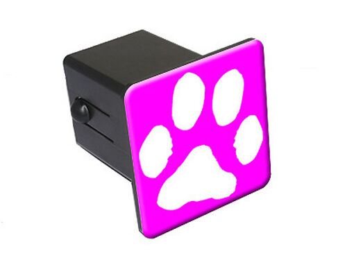 Paw Print Hot Pink Tow Trailer Hitch Cover Plug Insert Truck RV