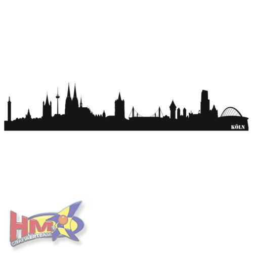 von 280x55 cm WT-0005 HM© Wandtattoo Köln Skyline bis zu einer Gr