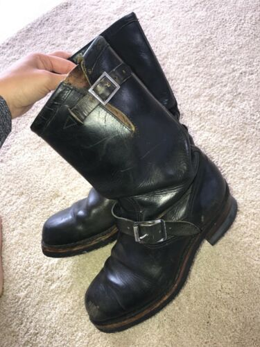 Vintage 1940's Sears horsehide engineer boots