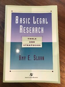 Basic Legal Research Tools And Strategies Legal Ebay