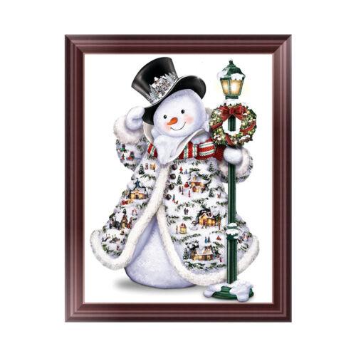 5D Diamond Painting Christmas Snowman Embroidery DIY Cross Stitch Xmas Decor New