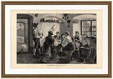 Die Ehrenscheibe nach dem Gemälde von Emil Rau München Schützen  X 192