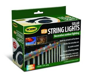 50 Solar Powered Led String Lights 25ft Outdoor Decorative Umbrella