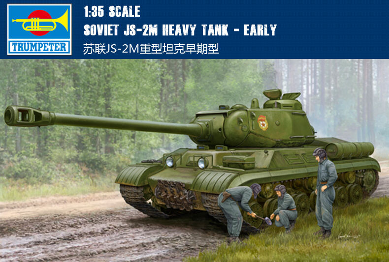 Trumpeter Soviet JS-2M Heavy Tank Early Armoruge Car 05589 1 35 Static Model Toy