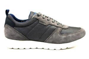 Geox-DAMIAN-U920HA-02214-Antracite-Sneakers-Scarpe-Uomo-Calzature-Casual