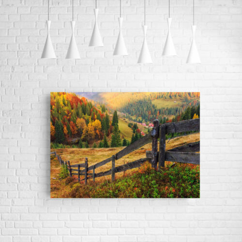 BEAUTIFUL AUTUMN COUNTRY CANVAS PICTURE #18 STUNNING LANDSCAPE HOME DECOR CANVAS