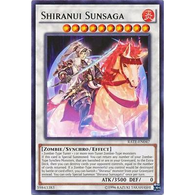 3x Yugioh RATE-EN047 Shiranui Sunsaga Rare Unlimited Edition Card
