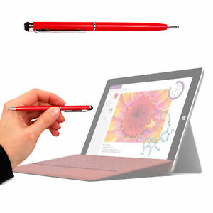Dual-Point-Red-Stylus-amp-Ball-Point-Pen-For-Microsoft-Surface-3-2015