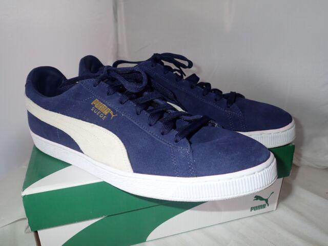 c24a0e321a07 PUMA Men s Suede Classic Sneaker Peacoat white 14 M