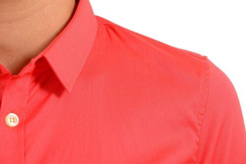 Donna Manica Pulsante Xs Anteriore Taglia Dsquared2 Rosso Lunga Corallo Camicia 7RqwagSA