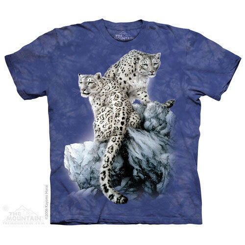 NEW HIGH ON TOP Snow Leopard Big Cats Wildlife The Mountain T Shirt Adult Sizes