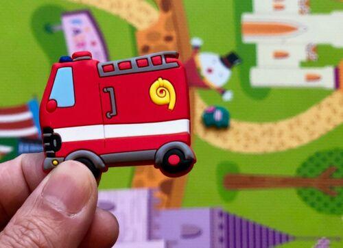 Fire Truck Brigade Badge Silicone Car Fridge Magnet Magnetic Kids Whiteboard