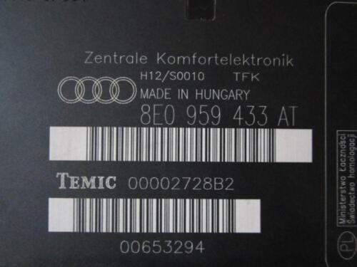 ZV Steuergerät Komfort Steuergerät AUDI A4 B6 8E 8E0959433AT