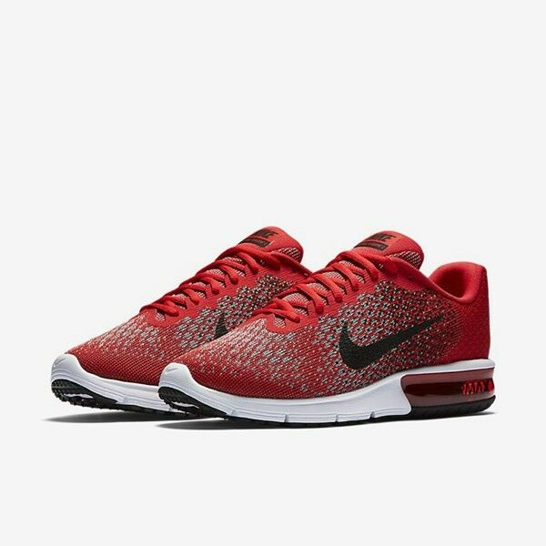Men's Nike Air Max Sequent 2 size 9.5-12 University Red Training Shoes 852461 60