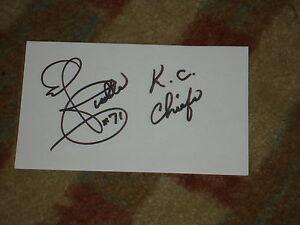 Ed Budde KC Chiefs Signed 3x5 index Card