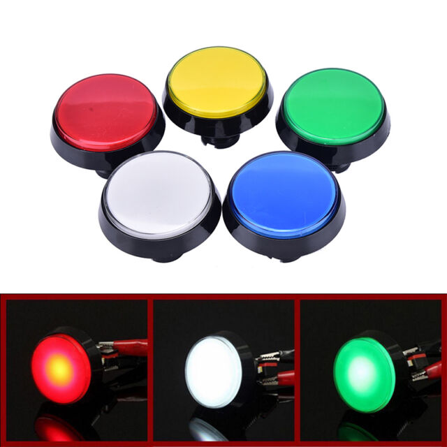 60mm LED Light Big Round Arcade Video Game Player Push Button Switch Lamp CLBD