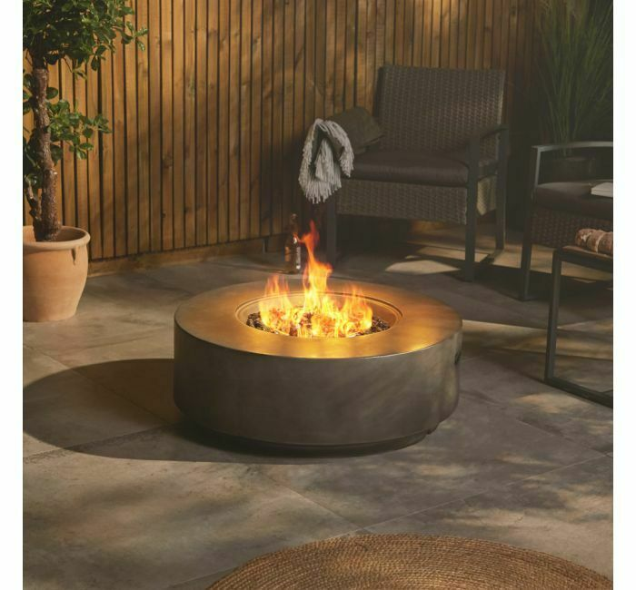 Gas Fire Pit Round Outdoor smokeless