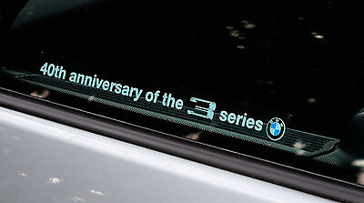 40th anniversary of the 3 series BMW Sticker for e21 e30 e36 e46 e90 e92 f30