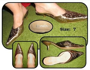 Pointy-Toed-Studded-Gold-Mules-Kitten-Heels-Pumps-by-Restricted-Size-7-shoes