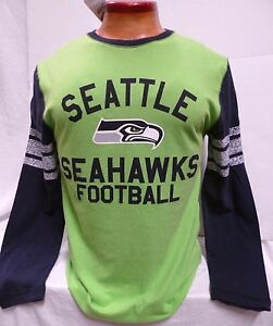SEATTLE-SEAHAWKS-MENS-LONG-SLEEVE-TEAM-NFL-SHIRT-NEW-W-TAGS-3X-OR-4X